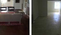 Tile Floor (Before & After)
